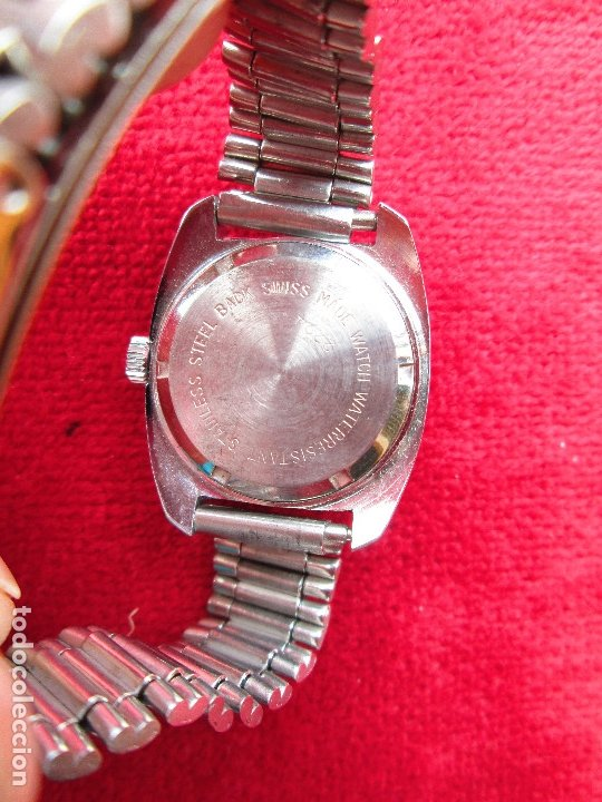 Relojes de pulsera: RELOJ DE PULSERA SUPER WATCH CARGA MANUAL,CUERDA - CALENDARIO- FUNCIONANDO - Foto 4 - 181561471
