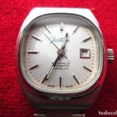Relojes de pulsera: RELOJ DE PULSERA JUSTINA CARGA MANUAL,CUERDA - CALENDARIO- FUNCIONANDO. Lote 181561738