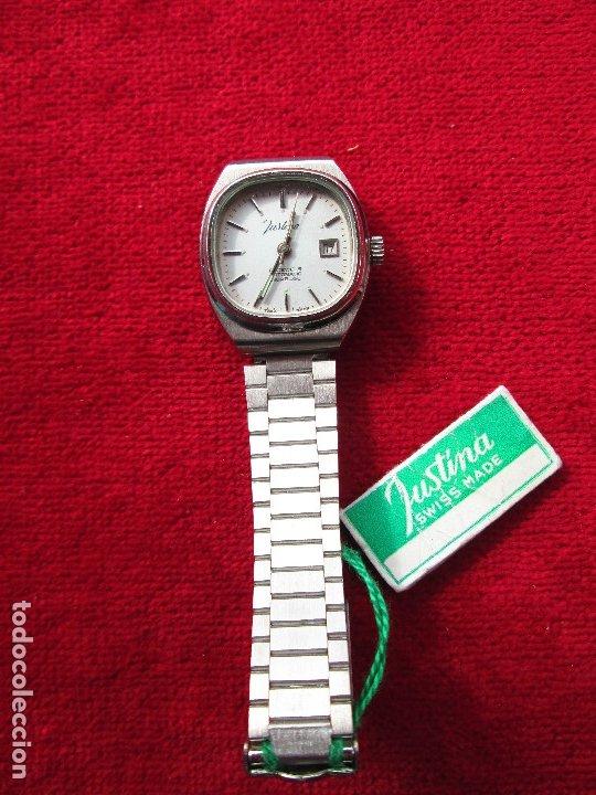Relojes de pulsera: RELOJ DE PULSERA JUSTINA CARGA MANUAL,CUERDA - CALENDARIO- FUNCIONANDO - Foto 2 - 181561738
