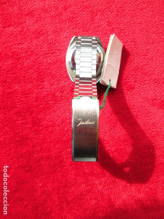 Relojes de pulsera: RELOJ DE PULSERA JUSTINA CARGA MANUAL,CUERDA - CALENDARIO- FUNCIONANDO - Foto 3 - 181561738