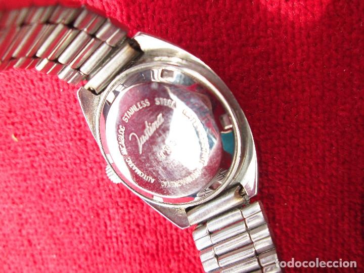 Relojes de pulsera: RELOJ DE PULSERA JUSTINA CARGA MANUAL,CUERDA - CALENDARIO- FUNCIONANDO - Foto 4 - 181561738