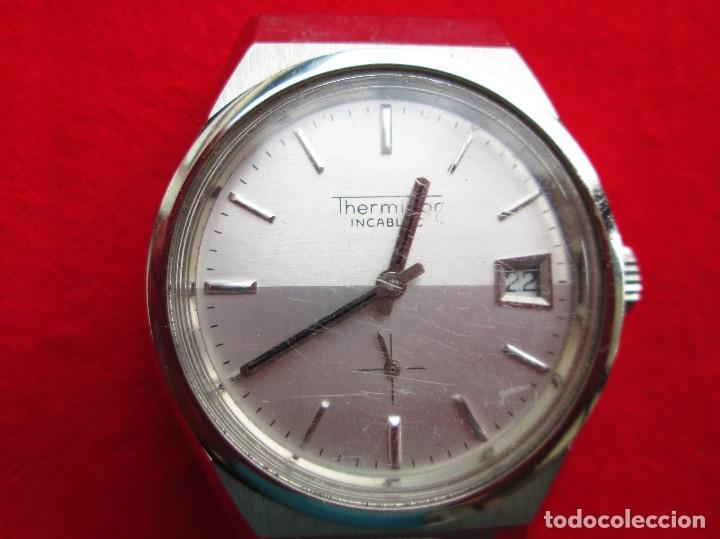 RELOJ DE PULSERA THERMIDOR CARGA MANUAL,CUERDA - CALENDARIO- FUNCIONANDO (Relojes - Pulsera Carga Manual)