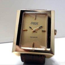 Relojes de pulsera: GRAN RELOJ VINTAGE MARCA EXACTUS DE CARGA MANUAL AÑOS 70 CHAPADO EN ORO Y NUEVO. Lote 181597126