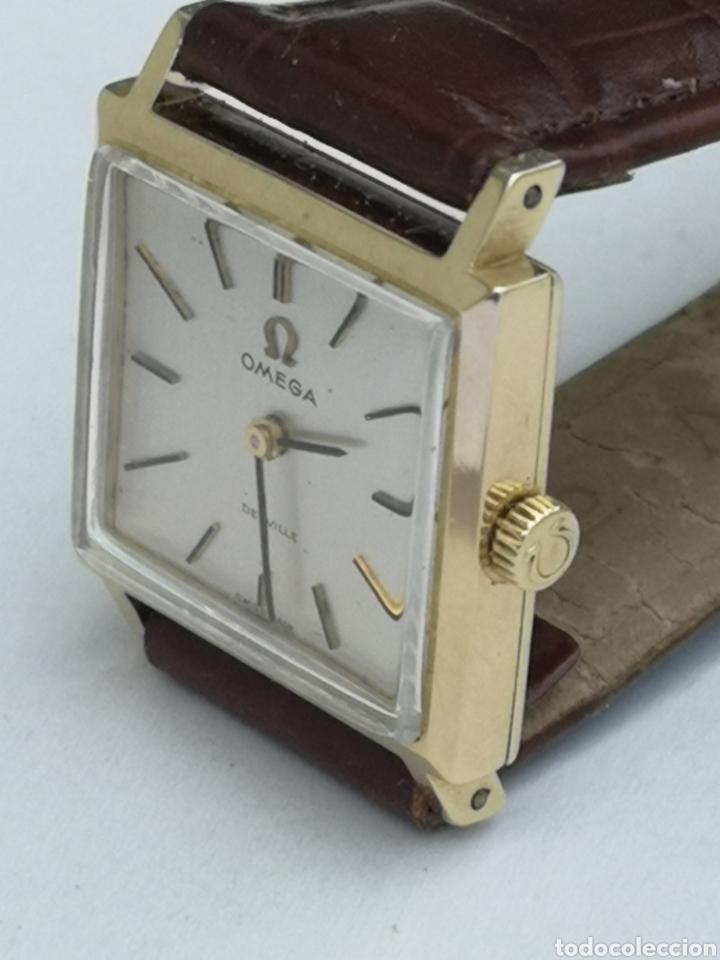 Relojes de pulsera: Hermoso reloj omega de oro de 18k para dama - Foto 9 - 181656382