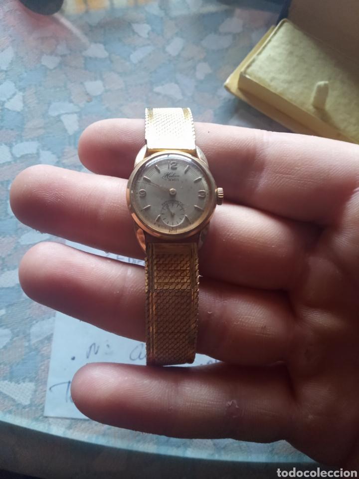 Relojes de pulsera: Reloj señora halcon años 50 chapado oro 8 micras 17 jewels - Foto 2 - 181694322