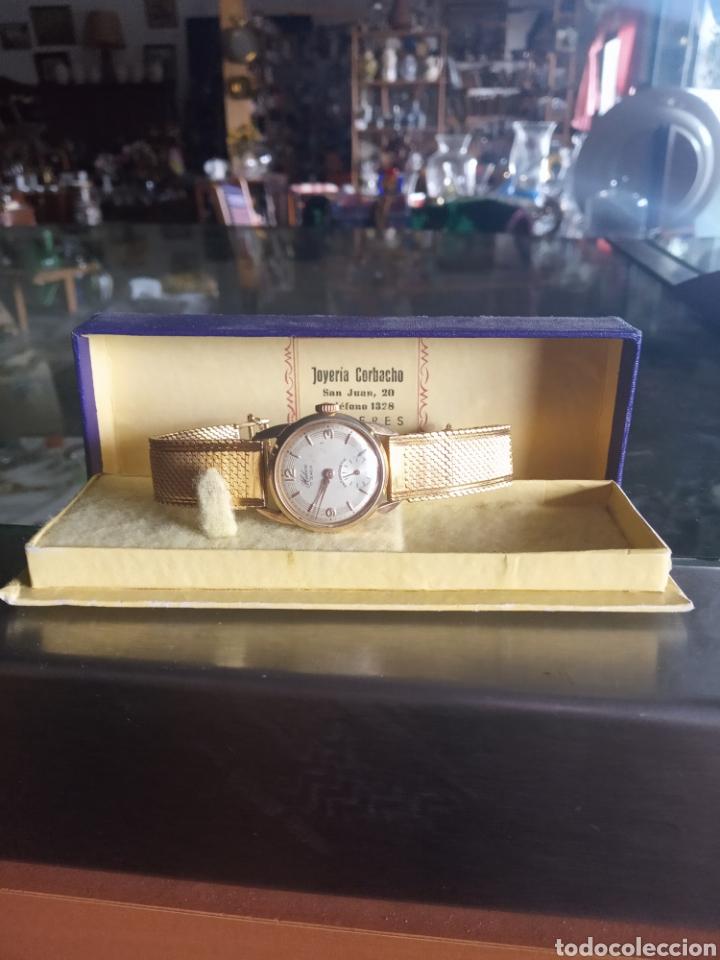 Relojes de pulsera: Reloj señora halcon años 50 chapado oro 8 micras 17 jewels - Foto 3 - 181694322