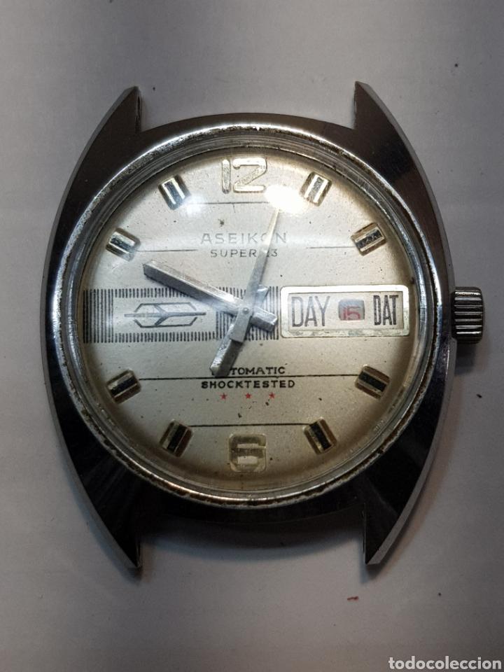 RELOJ ANTIGUO ASEIKON SÚPER 23 FUNCIONANDO (Relojes - Pulsera Carga Manual)