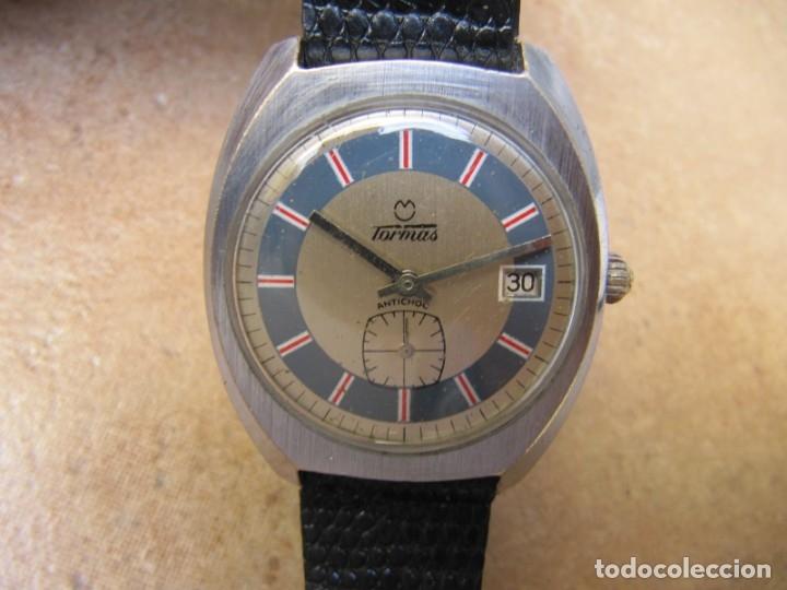 Relojes de pulsera: ANTIGUO RELOJ DE CUERDA DE PULSERA DE LA MARCA TORMAS - Foto 2 - 182065953