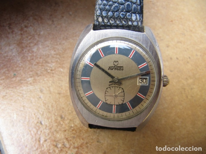 Relojes de pulsera: ANTIGUO RELOJ DE CUERDA DE PULSERA DE LA MARCA TORMAS - Foto 3 - 182065953
