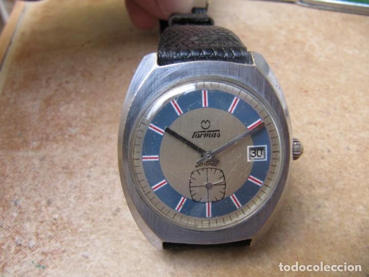 Relojes de pulsera: ANTIGUO RELOJ DE CUERDA DE PULSERA DE LA MARCA TORMAS - Foto 4 - 182065953