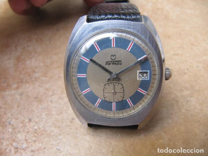 Relojes de pulsera: ANTIGUO RELOJ DE CUERDA DE PULSERA DE LA MARCA TORMAS - Foto 5 - 182065953