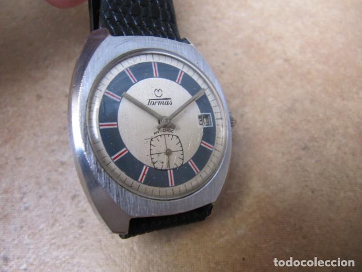 Relojes de pulsera: ANTIGUO RELOJ DE CUERDA DE PULSERA DE LA MARCA TORMAS - Foto 6 - 182065953