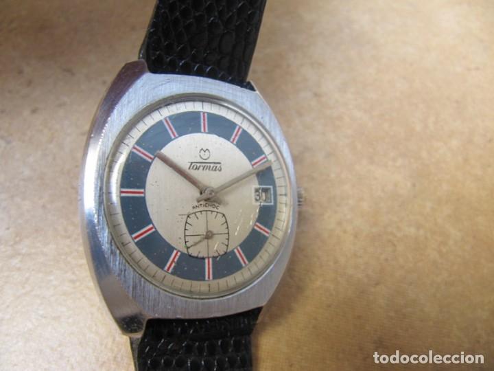 Relojes de pulsera: ANTIGUO RELOJ DE CUERDA DE PULSERA DE LA MARCA TORMAS - Foto 7 - 182065953