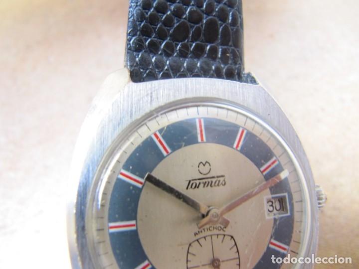 Relojes de pulsera: ANTIGUO RELOJ DE CUERDA DE PULSERA DE LA MARCA TORMAS - Foto 10 - 182065953