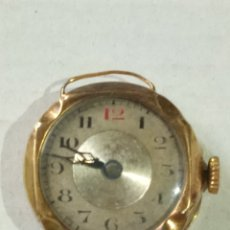 Relojes de pulsera: PRIMER RELOJ PULSERA ORO 18 KILATES. Lote 182104417