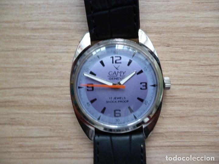 Relojes de pulsera: Reloj suizo CAMI vintage hombre 40 mm hasta corona y 38 mm DIAMETRO funciona como nuevo - Foto 2 - 182136161