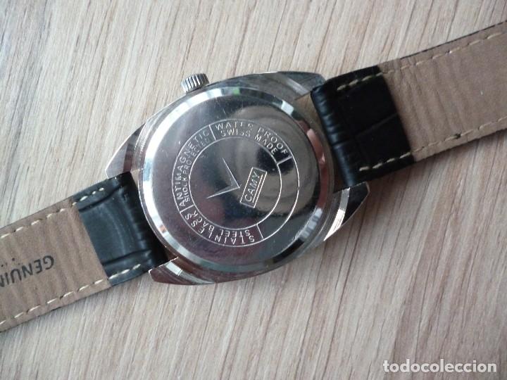 Relojes de pulsera: Reloj suizo CAMI vintage hombre 40 mm hasta corona y 38 mm DIAMETRO funciona como nuevo - Foto 3 - 182136161