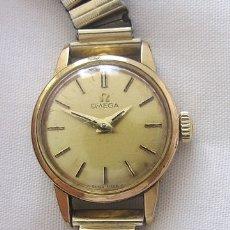 Relojes de pulsera: RELOJ OMEGA SRA DE CUERDA PLAQUE ORO . Lote 182177878