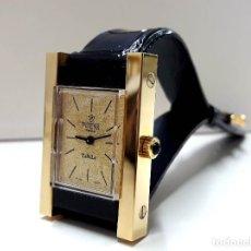Relojes de pulsera: ELEGANTE Y CURIOSO RELOJ VINTAGE POTENS PRIMA TURTLE AÑOS 70 CHAPADO EN ORO DE CARGA MANUAL Y NOS. Lote 182201388