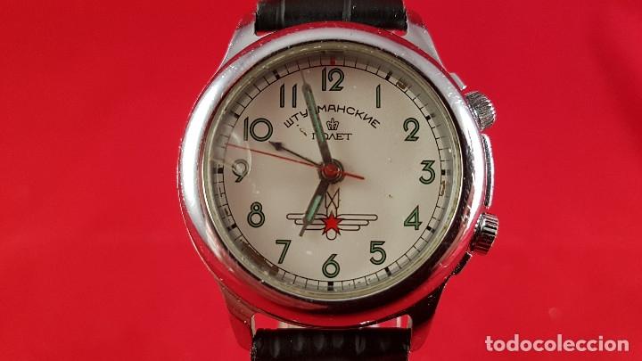 RELOJ RUSO POLJOT STURMANSKIE AÑOS 70 CON ALARMA MECANICA (Relojes - Pulsera Carga Manual)