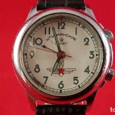 Relojes de pulsera: RELOJ RUSO POLJOT STURMANSKIE AÑOS 70 CON ALARMA MECANICA. Lote 182276717