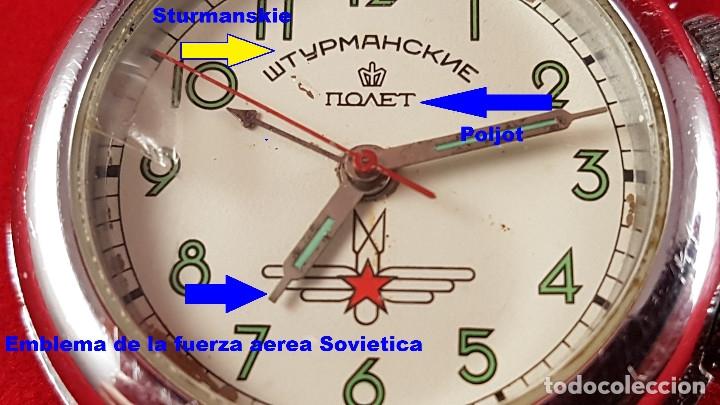 Relojes de pulsera: Reloj ruso Poljot Sturmanskie años 70 con alarma mecanica - Foto 2 - 182276717