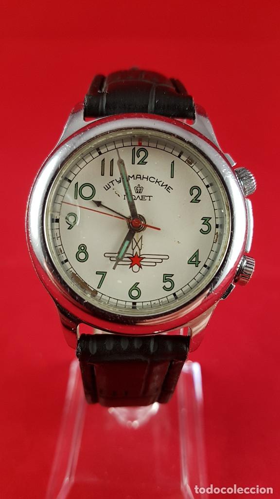 Relojes de pulsera: Reloj ruso Poljot Sturmanskie años 70 con alarma mecanica - Foto 4 - 182276717