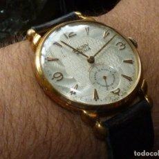 Relojes de pulsera: IMPRESIONANTE RELOJ CAUNY PRIMA SWISS MADE 38,5 MMS LANDERON 203 PRECIOSO 15 RUBIS AÑOS 40 COLECCIÓN. Lote 182472428