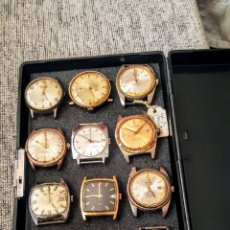 Relojes de pulsera: GRAN LOTE DE 12 RELOJES SWSS DE CUERDA NO FUNCIONAN DIFERENTES MARCAS. Lote 182579128