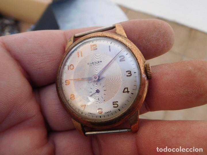 Relojes de pulsera: Reloj manual marca Glacier años 50 - Foto 3 - 182627991