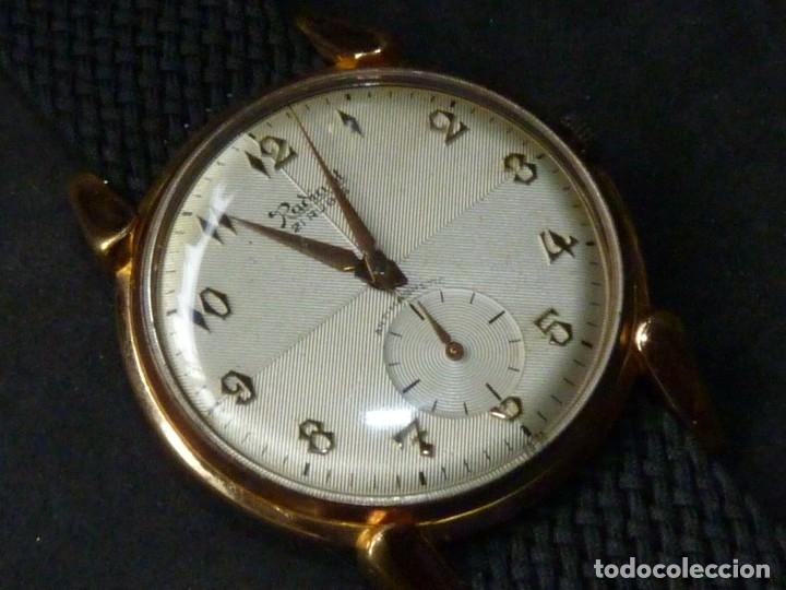Relojes de pulsera: ELEGANTE RELOJ RADIANT GRANDE CALIBRE AS1130 RARO 21 RUBIS ESFERA TEXTURIZADA CARGA MANUAL AÑOS 50 - Foto 2 - 182669756