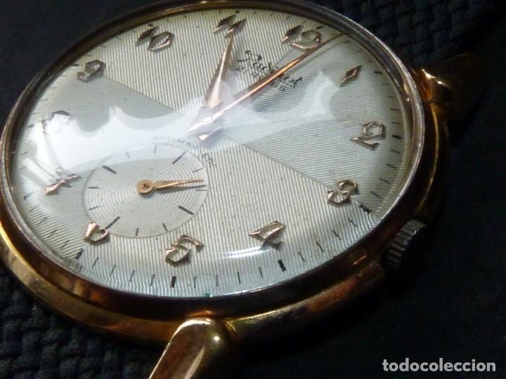 Relojes de pulsera: ELEGANTE RELOJ RADIANT GRANDE CALIBRE AS1130 RARO 21 RUBIS ESFERA TEXTURIZADA CARGA MANUAL AÑOS 50 - Foto 3 - 182669756