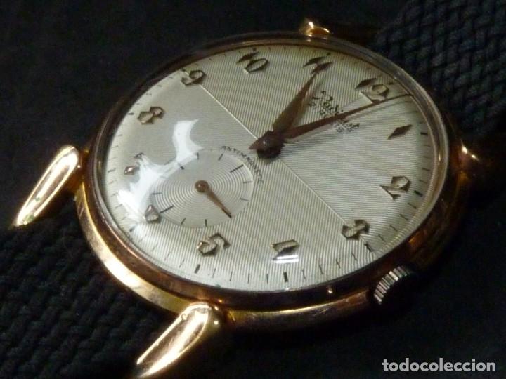 Relojes de pulsera: ELEGANTE RELOJ RADIANT GRANDE CALIBRE AS1130 RARO 21 RUBIS ESFERA TEXTURIZADA CARGA MANUAL AÑOS 50 - Foto 4 - 182669756