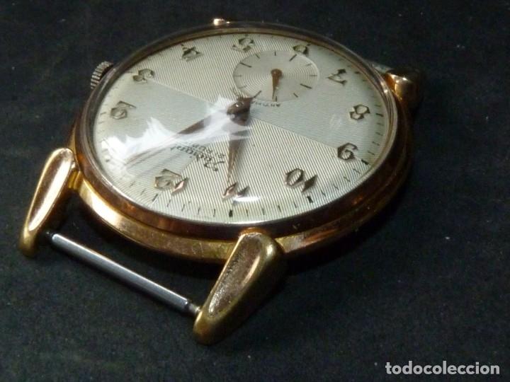Relojes de pulsera: ELEGANTE RELOJ RADIANT GRANDE CALIBRE AS1130 RARO 21 RUBIS ESFERA TEXTURIZADA CARGA MANUAL AÑOS 50 - Foto 8 - 182669756