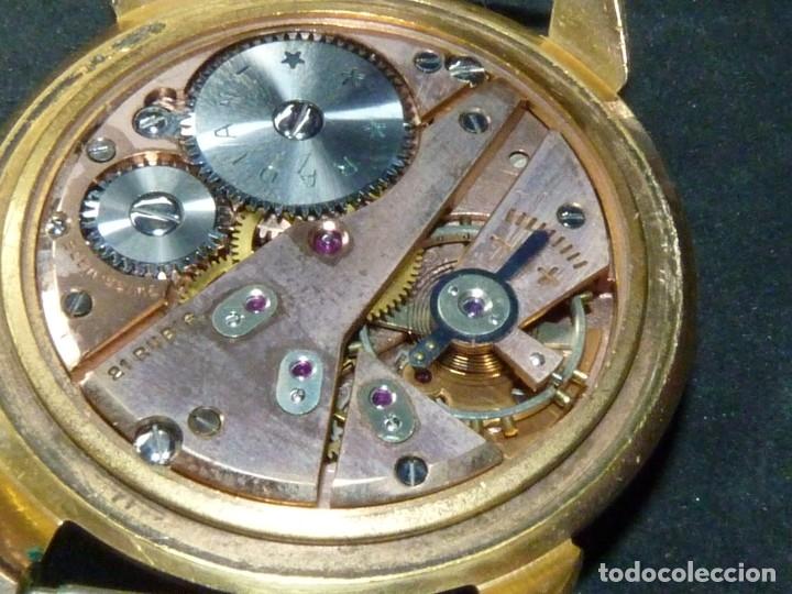 Relojes de pulsera: ELEGANTE RELOJ RADIANT GRANDE CALIBRE AS1130 RARO 21 RUBIS ESFERA TEXTURIZADA CARGA MANUAL AÑOS 50 - Foto 10 - 182669756