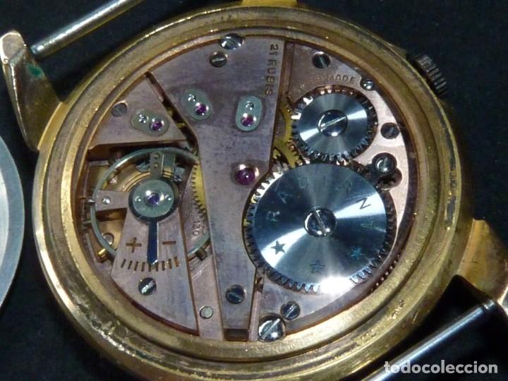 Relojes de pulsera: ELEGANTE RELOJ RADIANT GRANDE CALIBRE AS1130 RARO 21 RUBIS ESFERA TEXTURIZADA CARGA MANUAL AÑOS 50 - Foto 11 - 182669756