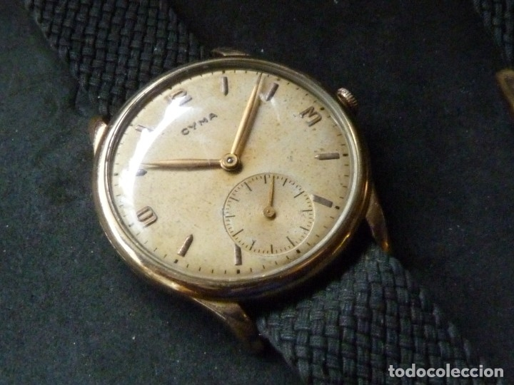 PRECIOSO RELOJ CYMA CALIBRE 586 SWISS MADE 15 RUBIS AÑOS 50 BAJISIMO NÚMERO DE SERIE 130... 37 MMS (Relojes - Pulsera Carga Manual)