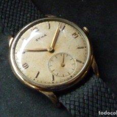 Relojes de pulsera: PRECIOSO RELOJ CYMA CALIBRE 586 SWISS MADE 15 RUBIS AÑOS 50 BAJISIMO NÚMERO DE SERIE 130... 37 MMS. Lote 182670566