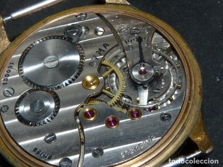 Relojes de pulsera: Precioso reloj CYMA calibre 586 swiss made 15 rubis años 50 BAJISIMO NÚMERO DE SERIE 130... 37 mms - Foto 8 - 182670566