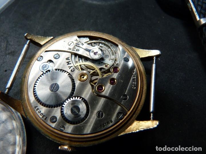 Relojes de pulsera: Precioso reloj CYMA calibre 586 swiss made 15 rubis años 50 BAJISIMO NÚMERO DE SERIE 130... 37 mms - Foto 9 - 182670566