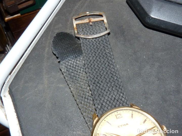 Relojes de pulsera: Precioso reloj CYMA calibre 586 swiss made 15 rubis años 50 BAJISIMO NÚMERO DE SERIE 130... 37 mms - Foto 10 - 182670566
