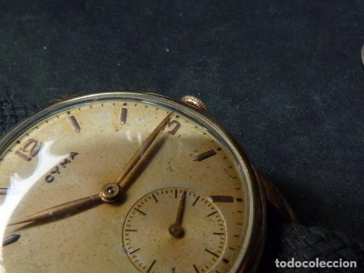Relojes de pulsera: Precioso reloj CYMA calibre 586 swiss made 15 rubis años 50 BAJISIMO NÚMERO DE SERIE 130... 37 mms - Foto 12 - 182670566
