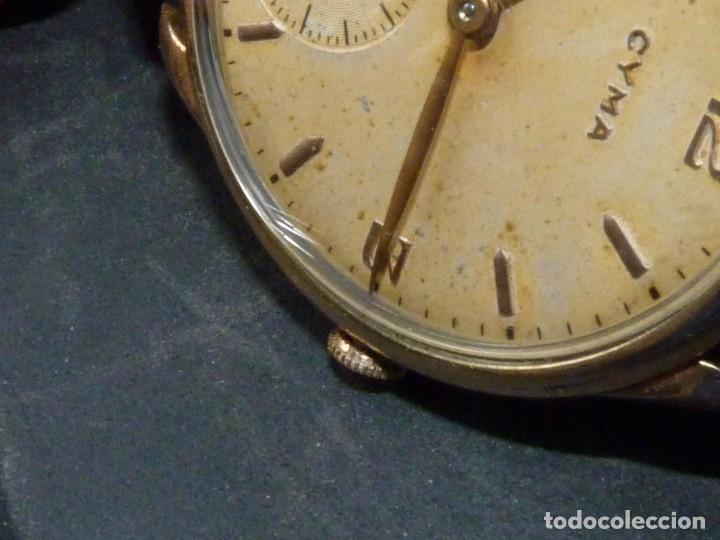 Relojes de pulsera: Precioso reloj CYMA calibre 586 swiss made 15 rubis años 50 BAJISIMO NÚMERO DE SERIE 130... 37 mms - Foto 13 - 182670566