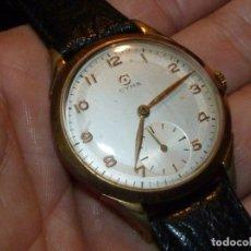 Relojes de pulsera: PRECIOSO RELOJ CYMA TAVANNES CALIBRE 586K SWISS MADE 38 MMS 17 RUBIS AÑOS 50. Lote 182714812