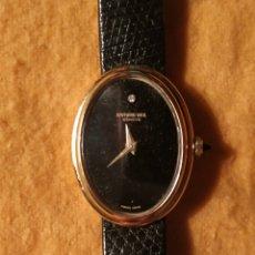 Relojes de pulsera: RELOJ RAIMON WEIL DE DAMA ELECTROPLATED EN ORO CON CORREA DE PIEL. Lote 182778706