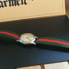 Relojes de pulsera: RELOJ RUSO MUY CURIOSO, ANTIGUO, DE CUERDA, FUNCIONANDO, SEGÚN FECHA TRASERA A MANO PARECE DE 1971. Lote 197497881