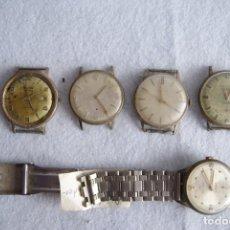 Relojes de pulsera: LOTE DE 5 RELOJES CLASICOS MECANICOS PARA PIEZAS C21. Lote 182869862