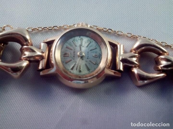 Relojes de pulsera: ORO 18 KILATES., ANTIGUO RELOJ CAUNY. SWISS MADE. - Foto 4 - 182959121