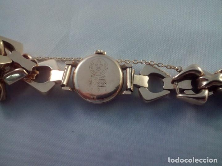 Relojes de pulsera: ORO 18 KILATES., ANTIGUO RELOJ CAUNY. SWISS MADE. - Foto 6 - 182959121