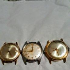 Relojes de pulsera: LOTE DE TRES RELOJES DE CUERDA 1CONTROL 17RUVIS 1MIRA 17RUVIS INCABLO 1OJIBA 21RUVIS. Lote 183023665